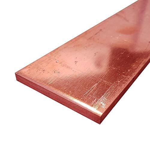 Online Metal Supply C110 Copper Flat Bar, 1/4' x 2-1/2' x 12'