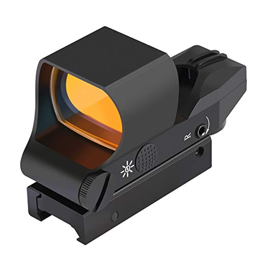 Feyachi RS-30 Reflex Sight, Multiple Reticle System Red Dot Sight with Picatinny Rail Mount, Absolute Co-Witness