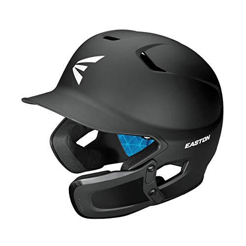 EASTON Z5 2.0 Batting Helmet w/ Universal Jaw Guard | Baseball Softball | Junior | Matte Black | 2020 | Dual-Density Impact Absorption Foam | High Impact ABS Shell | Moisture Wicking BioDRI Liner