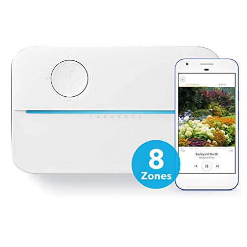 Rachio 3 Smart Sprinkler Controller, 8 Zone 3rd Generatoin, Alexa and Apple HomeKit Compatible with Hyperlocal Weather Intelligence Plus and Rain, Freeze and Wind Skip