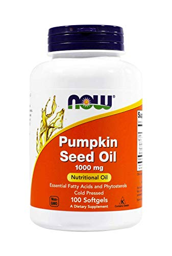 Now Foods Pumpkin Seed Oil 1000mg Soft-gels, 200-Count (100X2)