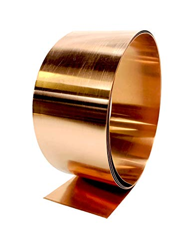Copper Flashing - 16 oz 24 Gauge 10' Rolls in Various Widths for Roofing, DIY, or Contractor use-Lead Free Copper - can be Used with Pressure Treated Lumber (2' Width)