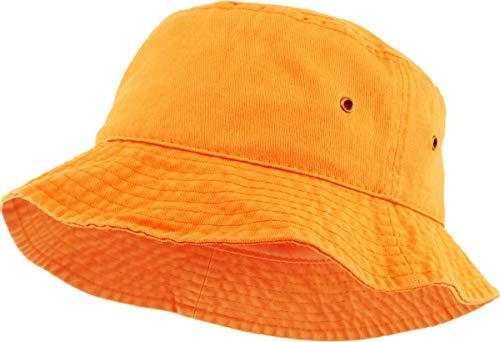KBM-500 ORG L/XL Travel Packable Summer Unisex Bucket Hat for Women and Men