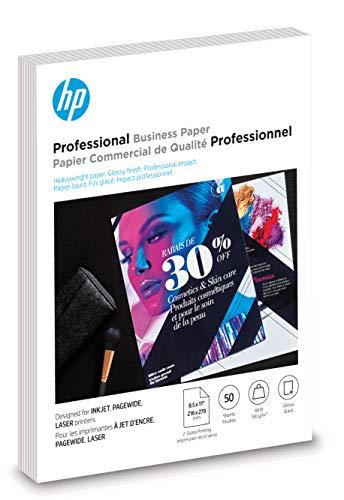 HP Brochure Paper   Glossy Professional InkJet   8.5x11   50 Sheets (6MF93A)