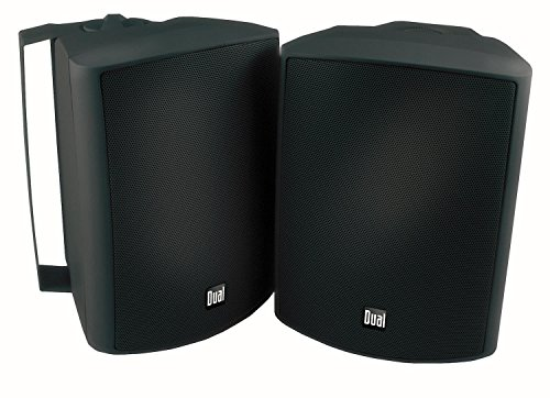 Dual Electronics LU53PB 3-Way High Performance Outdoor Indoor Speakers with Powerful Bass   Effortless Mounting Swivel Brackets   All Weather Resistance   Expansive Stereo Sound Coverage   Sold in Pairs