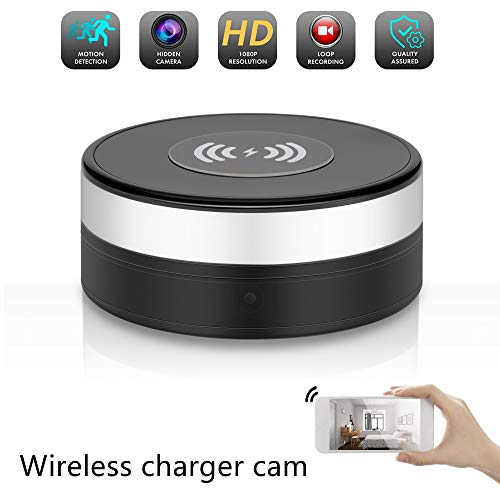 Hidden Camera Wireless Charger 90° Lens Rotate Video Recorder WiFi 1080P HD Spy Cameras Motion Detection Nanny Cam