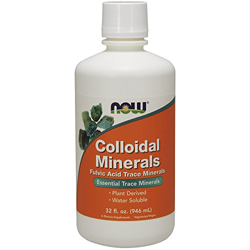 NOW Supplements, Colloidal Minerals Liquid, Plant Derived, 32-Ounce
