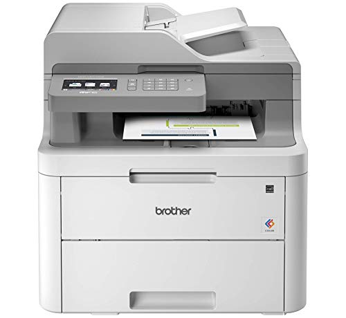 Brother MFC-L3710CW Compact Digital Color All-in-One Printer Providing Laser Printer Quality Results with Wireless, Amazon Dash Replenishment Ready