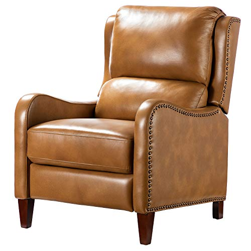 Vintage Wingback Leather Chair Accent Sofa Family Chair Air Leather Bedroom, Living Room & Massage Sofa- Home Theater Seating,Camel.