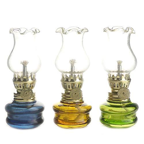 Purism Style- 4' Height Glass Kerosene Oil Lamp Lantern (Set of 3)