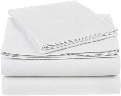 Pinzon 300 Thread Count Organic Cotton Bed Sheet Set - Twin, White