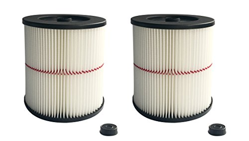 ATXKXE Wet/Dry Vacuum Cleaner Air Cartridge Filter for Shop Vac Craftsman 17816 Filter (2 Pack)