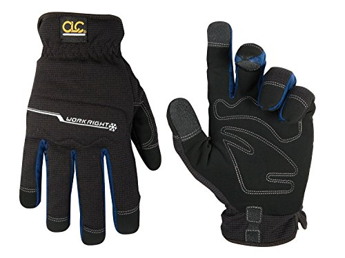 CLC Custom Leathercraft L123L Workright Cold Weather Insulation Flex Grip Work Gloves, Shrink Resistant, Improved Dexterity, Tough, Stretchable, Excellent Grip