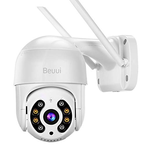 3.0MP Security Camera Outdoor,Beuui AI Human Detection Wireless Home Surveillance IP Camera,4X Digital Zoom,H.265+,2-Way Audio,Weatherproof Smart PTZ Camera