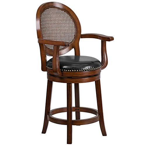 Flash Furniture 26' Expresso Wood Stool w/Arms