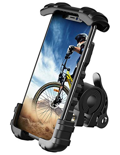 """Phone Holder Mount for Bike Handlebar - Lamicall Motocycle Cell Phone Clamp, Scooter Phone Mount for iPhone 11/ iPhone 11 Pro/iPhone 11 Pro Max, Samsung S10 and More 4.7"""" - 6.8' Smartphones"""
