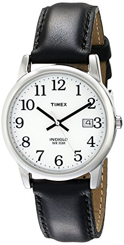 Timex Men's T2H281 Easy Reader 35mm Black Leather Strap Watch
