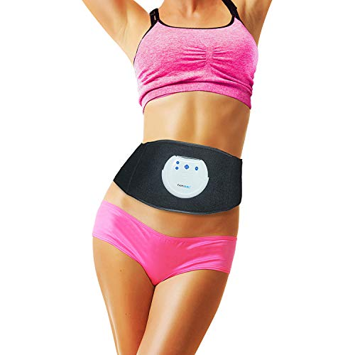 FAMIDOC Waist Trimmer Ab Stimulator Belt Newest Gel-Free Permanent Use Silicon Electrodes Technology Ultimate Ab Trainer Workout Belt EMS Unit for Weight Loss