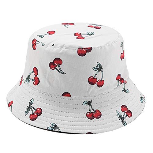 Umeepar Unisex Reversible Packable Bucket Hat Sun hat for Men Women (Cherry)