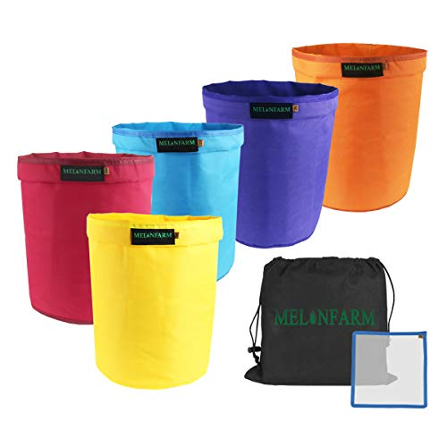 MELONFARM Bubble Bags 5-Gallon 5-Bag Set - Herbal Ice Bubble Hash Bag Essence Extractor Kit - Free Pressing Screen & Storage Bag Included
