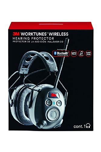 3M Worktunes Wireless Hearing Protection with Bluetooth Technology and AM/FM Radio (Renewed)