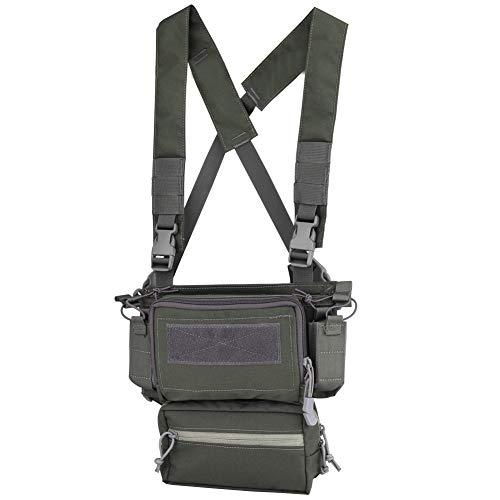 OAREA Hunting Tactical Vest Magazine Pouch Modular Chest Rig Set Drop Pouch 3PCS Mag Insert Set