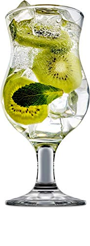 Circleware 44318 Caribbean Cooler Daiquiri Wine Glasses, Set of 4 Entertainment Beverage Drinking Glassware for Water, Juice, Cocktails, Beer, Liquor and Best Home & Kitchen Bar Decor, 12 oz, Clear