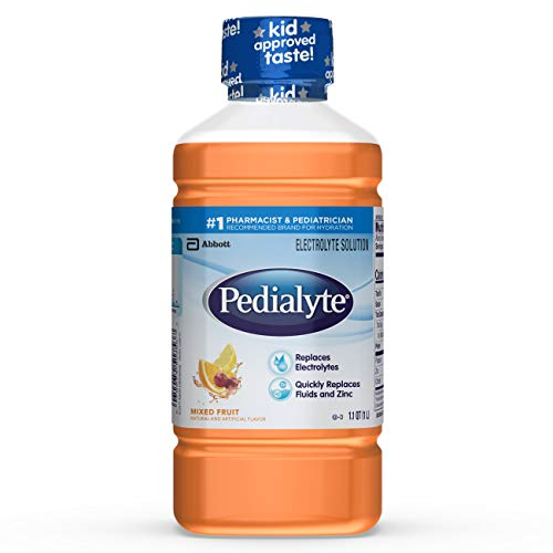 Pedialyte Electrolyte Solution, Hydration Drink, 1 Liter, 8 Count, Mixed Fruit