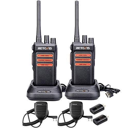 Retevis RT76 2 Way Radio GMRS Long Range 30 Channels High Power Clear Sound Outdoor Rugged Walkie Talkies with Speaker Mic(Black,2 Pack)