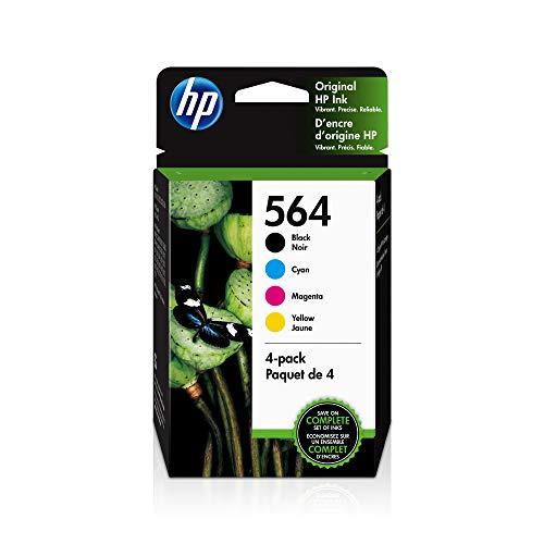 HP 564 | 4 Ink Cartridges | Black, Cyan, Magenta, Yellow | CB316WN, CB318WN, CB319WN, CB320WN