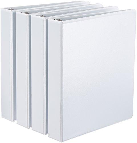 AmazonBasics D-Ring Binder - 1.5 Inch, 4-Pack