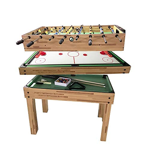 haxTON 1 Set of Popular Game Tables 3 in 1/5 in 1 Multi-Use Game Table Compact Combination Game Tables Mini Game Tables Foosball Table Air Hockey Table Pool Table Mini Table for Children Adult