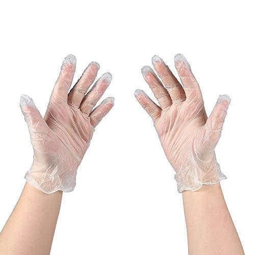 MoloTAR 100 PCS Disposable Vinyl Glove,Large