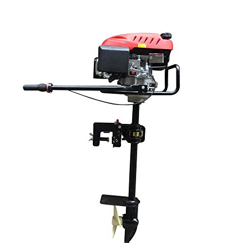 DOMINTY 6HP 4 Stroke Heavy Duty Outboard Motor Boat Engine w/Air Cooling System