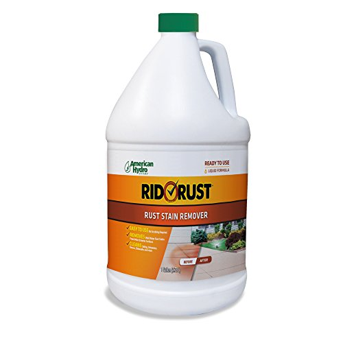 Rid O' Rust Liquid Rust Stain Remover and Calcium Cleaner Concentrate. Remove Rust Stains from Decks, Fences, Boats, Concrete, and More. (4 Gallons)