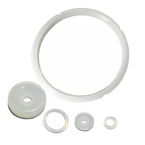 Kitchen Silicone Sealing Ring and Pressure Cooker Replacement Rubber Gaskets parts for 6 qt and 5 qt - Set of 5