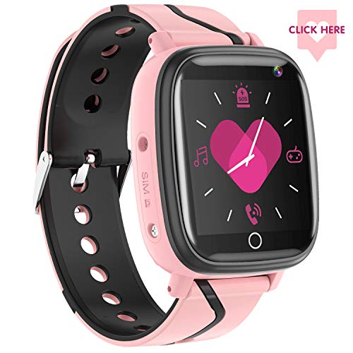 Kids Smartwatch- Children's Smart Watch Phone, 10 Can Be Set Name SOS Two-Way Calling Music Player Games HD Camera Alarm Clock Calculator Set Wallpaper for Free, Suitable for Teenagers 4-12y(Pink)