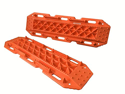 MAXSA 20333 Escaper Buddy Traction Mats for Off-Road Mud, Sand, & Snow Vehicle Extraction (Set of 2), Orange