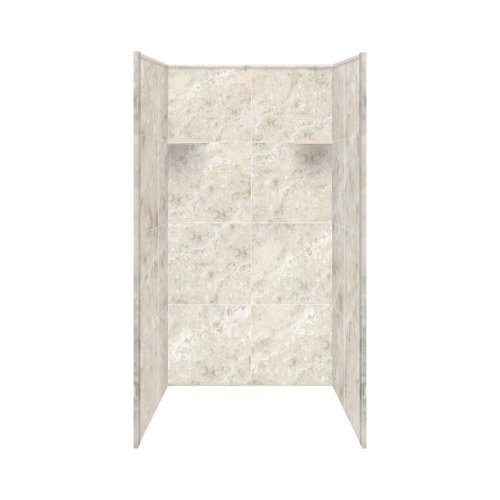 Transolid RBE3667-92 Remodel Shower Wall Surround, 36-Inch x 36-Inch x 72-Inch, Silver Mocha