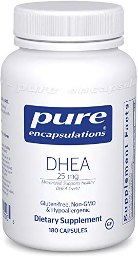 Pure Encapsulations - DHEA 25 mg - Micronized Hypoallergenic Supplement to Support Healthy DHEA Levels - 180 Capsules