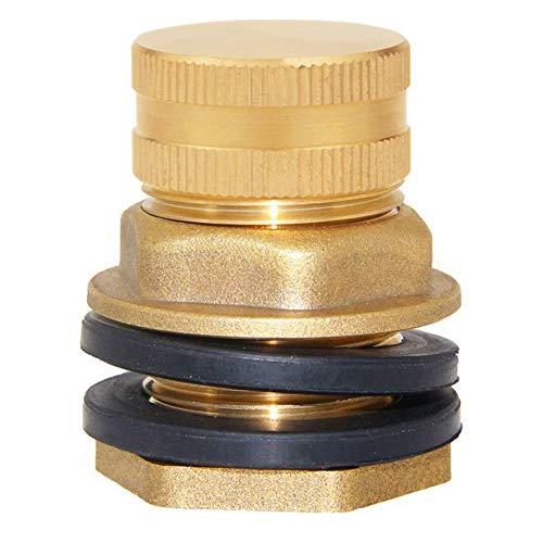 Joywayus Brass Male Garden Hose Bulkhead Fitting Drain/Flush Port Kit