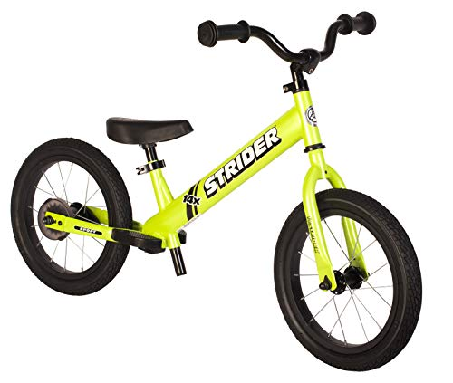 Strider - 14x Sport Balance Bike, Ages 3 to 7 Years, Fantastic Green - Pedal Conversion Kit Sold Separately