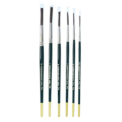 MACK Hannukaine Quill Pinstripe Brush/Brushes Set of 6