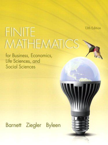 Finite Mathematics for Business, Economics, Life Sciences, and Social Sciences (2-downloads)