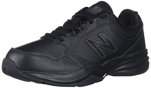 New Balance Men's 411 V1 Walking Shoe, Black/Black, 11 W US