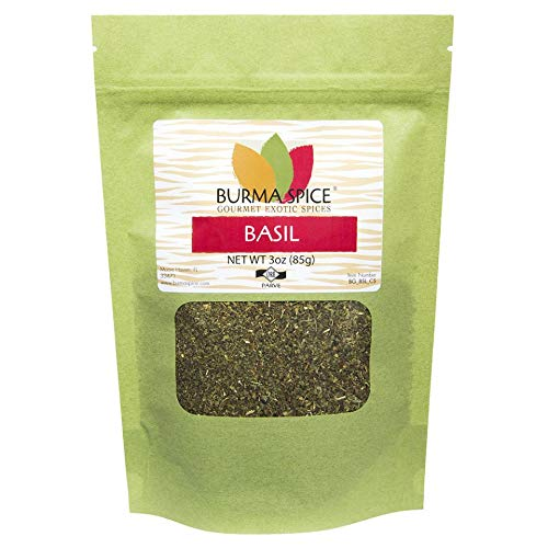 Dried Basil Leaves | Sweet Aroma and Slightly Peppery Taste | Staple in Pizza Sauce | Sweet Basil 3 oz.
