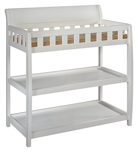 Delta Children Bentley Changing Table with Changing Pad, White