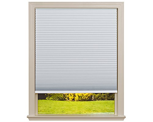 Easy Lift Trim-at-Home Cordless Cellular Blackout Fabric Shade White, 36 in x 64 in, (Fits windows 19'- 36')