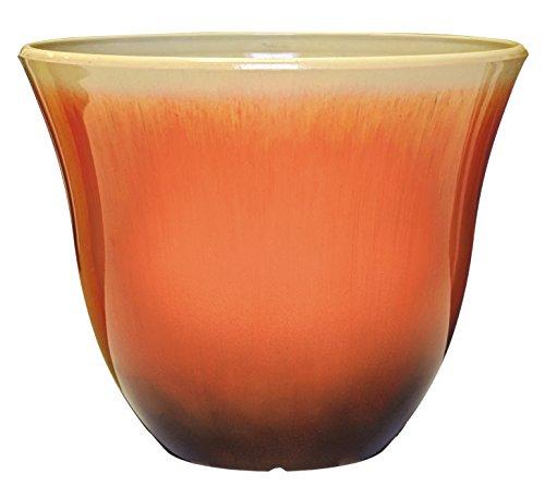Honeysuckle Planter, Patio Pot, 13' Tequila Sunrise