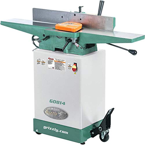 Grizzly Industrial G0814-6' x 48' Jointer with Cabinet Stand